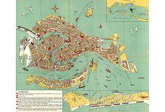 Illustrated Map of Venice on OneKingsLane.com