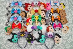 Cute and creative Minnie ears Disney Ears Headband, Diy Disney Ears, Disney Headbands, Disney Hair, Mickey Mouse Ears Hat, Disney Mickey Ears, Disney Bows, Disneyland Ears, Disney Crafts