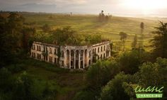 Заброшенный колледж в Абхазии.