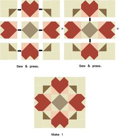 Somewhere My Love Quilt Block Pattern for the Sentimental Journey Block of the Month Quilt