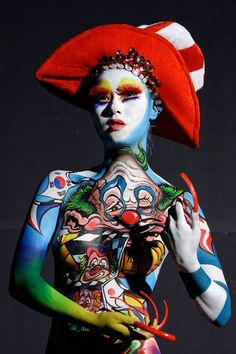 Just the absolute coolest body paint I have ever seen. Period.