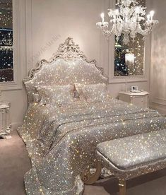 luxury bedroom decor enter your dream house by bringing love Room Ideas Bedroom, Girls Bedroom, Bedroom Decor, Bedroom Designs, Dream Rooms, Dream Bedroom, Royal Bedroom, Glitter Bedroom, Glitter Photography