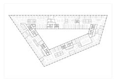 Image 12 of 13 from gallery of Richtiring Office Building / Max Dudler. Floor Plan