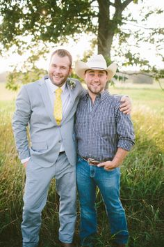 country groomsman looks http://www.weddingchicks.com/2013/09/06/intimate-country-elopement/