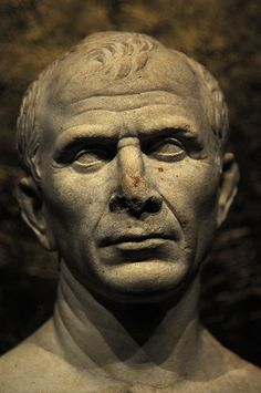 Bust said to be of Julius Caesar done from life recently recovered from the Rhone River in France