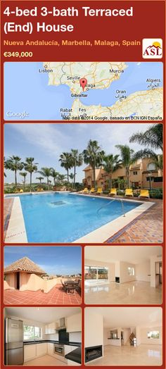 4-bed 3-bath Terraced (End) House in Nueva Andalucía, Marbella, Malaga, Spain ►€349,000 #PropertyForSaleInSpain