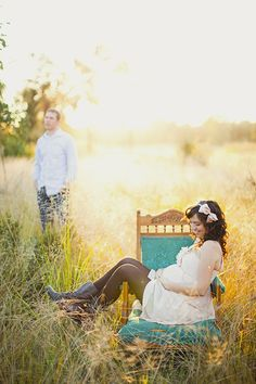Baby Bump Photo in a field. Too bad my belly will be big in the middle of winter!