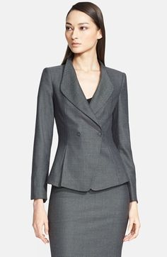 Armani Collezioni Bird's Eye Double Snap Jacket available at #Nordstrom