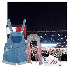"""""""Decode Tour: Dublin, Ireland"""" by epilxgue ❤ liked on Polyvore featuring Tommy Hilfiger, Monki and adidas"""