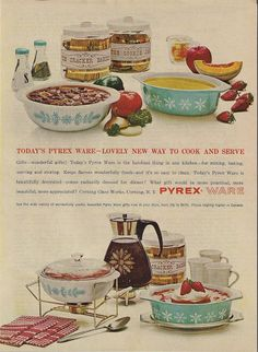 Vintage Turquoise Pyrex Ware Ad