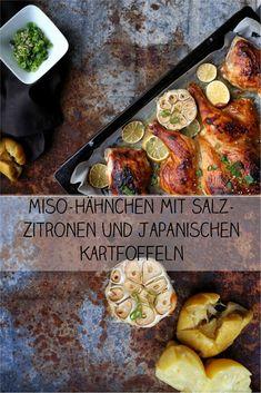 Miso-Hähnchen mit Salz-Zitronen und Sesam. Perfekte schnelle Küche.