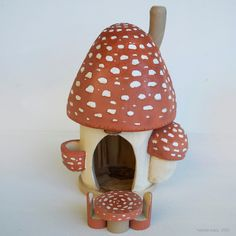 Large Autumn Mushroom Gnome Home with Table and Chairs by Willodel Toys