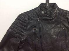 Kenneth-Cole-New-York-Men-100-Leather-Distressed-Moto-Biker-Rider-Coat-Jacket-L