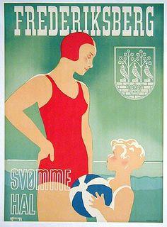 1938 Denmark beach resort poster #vintage #travel #beach - www.varaldocosmetica.it  the olive oil cosmetics from thr italian riviera.