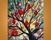 beautiful red birds