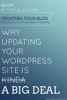 Why It's Actually REALLY Important to Update Your WordPress Blog