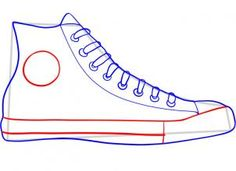 how to draw converse - use this basic outline drawing for diy converse gift tags