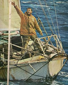 """Saltwater People Log: The Great Solo Circumnavigator ✪ ✪ ✪ ✪ Robin Knox-Johnston and SUHAILI. Winner of the Sunday Times """"Golden Globe"""" race. Honfleur, Boys Don't Cry, Naval, Le Havre, Sailing Ships, Sailing Yachts, Small Boats, Mans World, Tall Ships"""