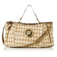 Sharif Printed Calfskin Leather Tote with Shoulder Strap Item: 133-963  HSN Price: $189.90