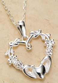 Claddagh Heart Necklace [all my wedding rings have been claddagh and this would be nice to have with them] I LOVE THEM! Jewelry Gifts, Jewelry Box, Jewelery, Jewelry Necklaces, Celtic Engagement Rings, Irish Jewelry, Claddagh Rings, Irish Celtic, Pendant