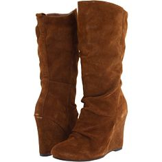 Randomly really want suede wedge boots.