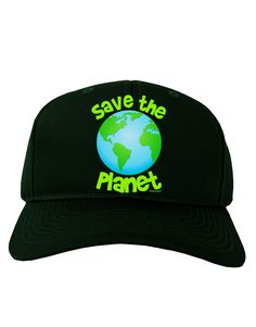 TooLoud Save the Planet - Earth Adult Dark Baseball Cap Hat