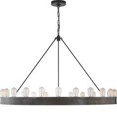"Circa Lighting Roark 50"" modular ring chandelier"