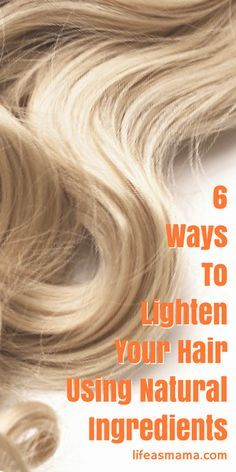 "Using ingredients you probably already have in your kitchen, you can add a natural looking glow to your locks. It won't cost you anything more than a few minutes, and this gives you a great excuse for needing some ""mama time"" to relax and pamper yourself. Try these hair lightening ideas to give yourself some highlights for the rest of summer."