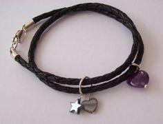Leather wrap Bracelet Sterling Silver £17.00