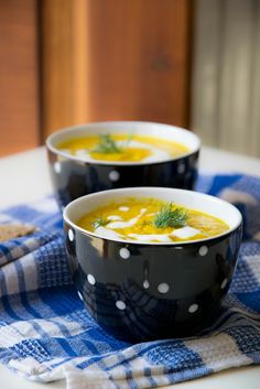 Carrot coconut milk soup
