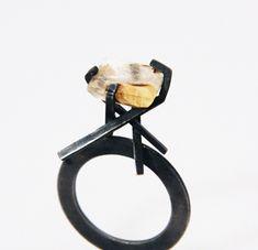 Elke Schmid--Goldlieben 925 silver, dendritic quartz