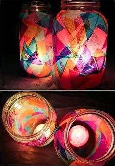 handmade home decor 13 DIY Lanterns To Light Up Your Outdoor Space : Home Decor Projects Diy Outdoor Party, Outdoor Parties, Diy Party, Ideas Party, Garden Lanterns, Ideas Lanterns, Jar Lanterns, Winter Diy, Vintage Diy