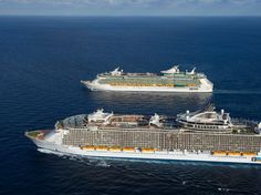 Royal Caribbean Cruise ships side by side