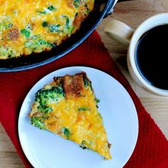 Egg Un-Casserole with spinach, broccoli, Cheddar and Parmesan