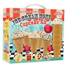 We all scream for ice cream!  Forget the kids, get the girls together for an afternoon of daiquiris and cupcake baking! This adorable Ice Cream Cone Cupcake Kit includes silicone ice cream cones that can be used over and over again so the party never ends (well, unless the drinks run out of course...).