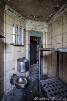Abandoned cell for two in Steadmoor Correctional Facility -  photo by Matthew Christopher Murray's Abandoned America