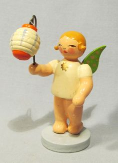 West Germany Wood Angel Carrying Lantern Figurine,,,love these have some of them