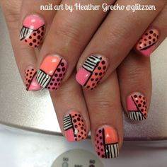 LCN's new Neon colours was used in this fun pop art style nails!!! I love doing these