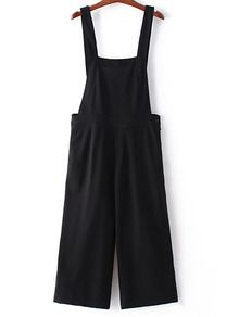 To find out about the Black Pockets Button Zipper Side Straps Jumpsuit at SHEIN, part of our latest Jumpsuits ready to shop online today! Black Dungarees Outfit, Dungarees Outfits, Long Overalls, Summer Fashion Outfits, Casual Outfits, Looks Hippie, Wedding Dress With Pockets, Dress Pockets, Burgundy Pants