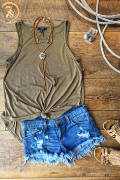 The Lambert - Olive summer tank.Braided trim armholes.Rounded hem.Slight hi-lo hem.Tri-blend olive fabricVery soft and lightweight.Comfortable flattering fit.