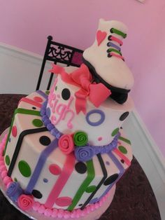---Cute! Roller Skate Fondant cake Topper by shannondean4 on Etsy, $21.50