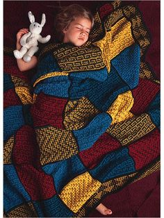 Mosaic Tile Afghan Knitting Pattern $5.50