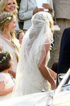 Kate Moss' wedding veil