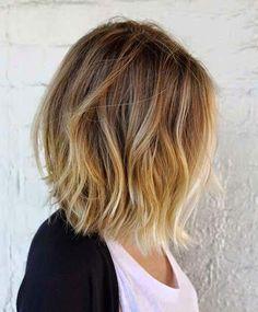Hair goals, short hair with light ends.