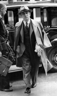 July 1941: Czechoslovakian statesman Eduard Benes (1884 - 1948) arriving at the offices of his government in exile in London, which has been recognised by the British government. Dr Benes is president, with Mgr Jan Sramek as prime minister. Benes returned to his country in 1945. (Photo by Keystone/Getty Images)