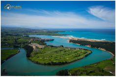 Ría de Mogro, Golf Abra del Pas Fotografía aérea Cantabria, imágenes aéreas de la tierruca www.desdeotropuntodevista.com