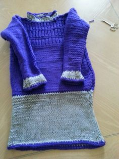 Knitted dress for Alex 3 yrs
