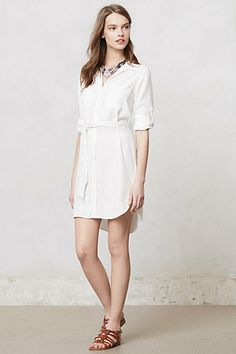 crisp white shirtdress