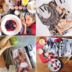 Pin for Later: Instagram-Erkenntnisse: Ihr wisst, ihr seid eine Mode-Bloggerin wenn . . . Ihr stilvoll Modezeitschriften lest Source: Instagram users garypepper, damselindior, rumineely, songofstyle