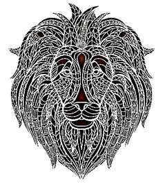 potisk lev, originální motiv na tričko,T-ART.CZ, lion illustration design t-shirt